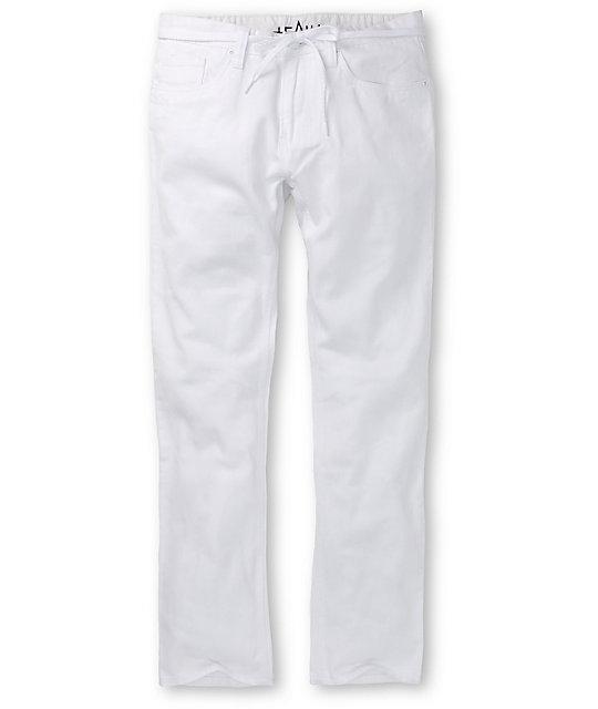Emerica Skate Kirchart White Skinny Jeans