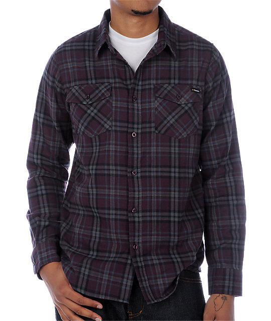 Emerica Swampmeet Purple Flannel Shirt