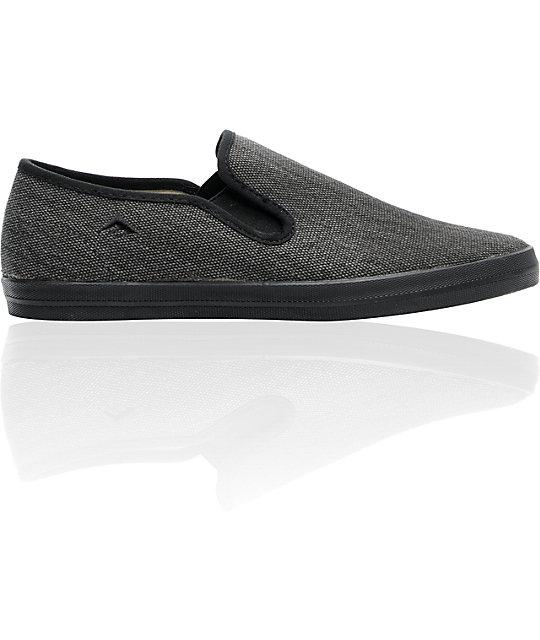 Emerica The China Flat Black Chillseekers Skate Shoes