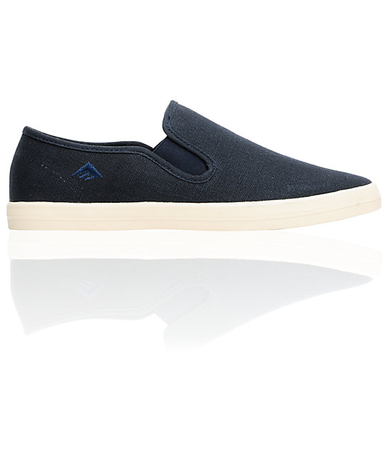 Emerica The China Flat Dark Navy Chillseekers Skate Shoes