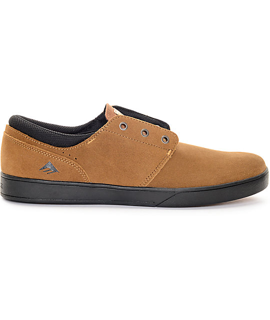 Emerica The Figueroa Brown & Black Skate Shoes