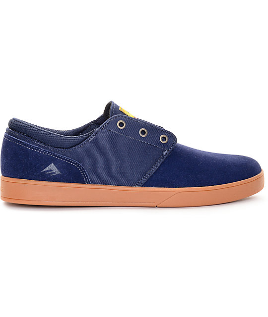 Emerica The Figueroa Navy & Gum Skate Shoes