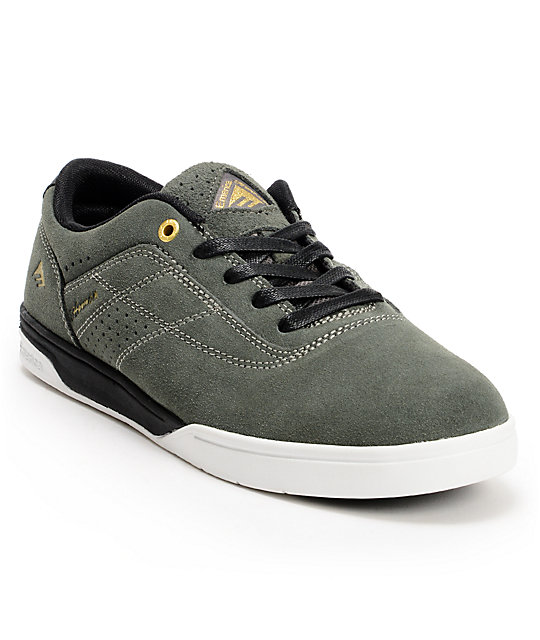 Emerica The Herman G6 Dark Grey & Black Suede Skate Shoes