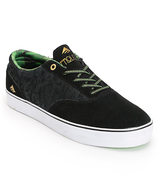 Emerica The Provost Black, Green, & Tie Dye Skate Shoes