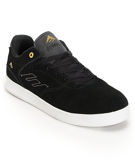 Emerica The Reynolds Low Black & Gold Skate Shoes