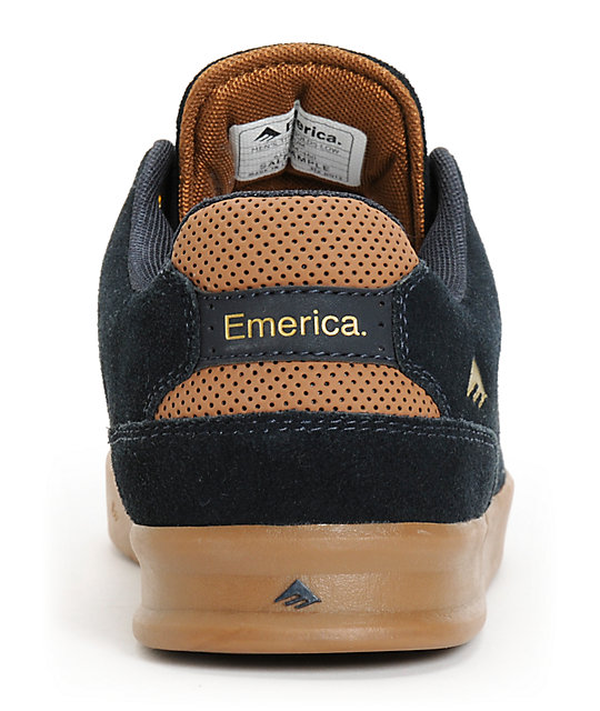 Emerica The Reynolds Navy & Gum Suede Skate Shoes