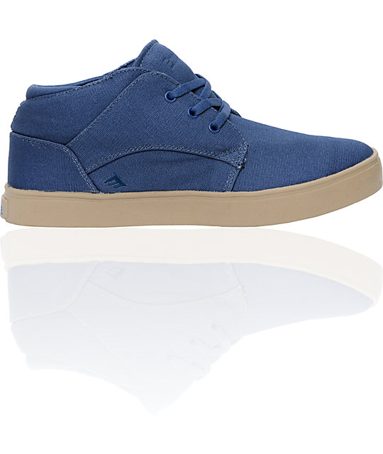 Emerica The Situation Navy & Tan Shoes