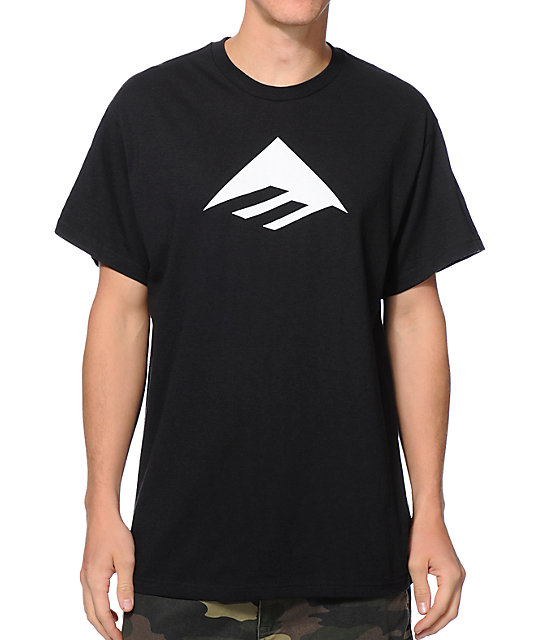 Emerica Triangle 7.0 Black T-Shirt