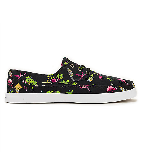 Emerica Troubadour Low LTD Flamingo Skate Shoes