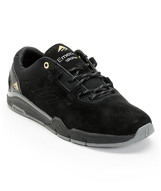 Emerica Westgate Black & Dark Grey Suede Skate Shoes