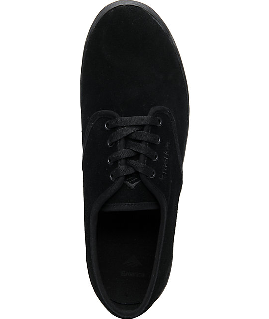 Emerica Wino All Black Suede Shoes