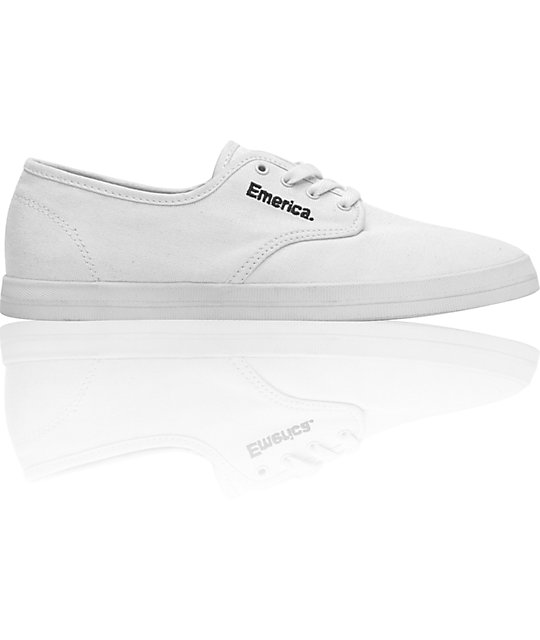 Emerica Wino All White Shoes
