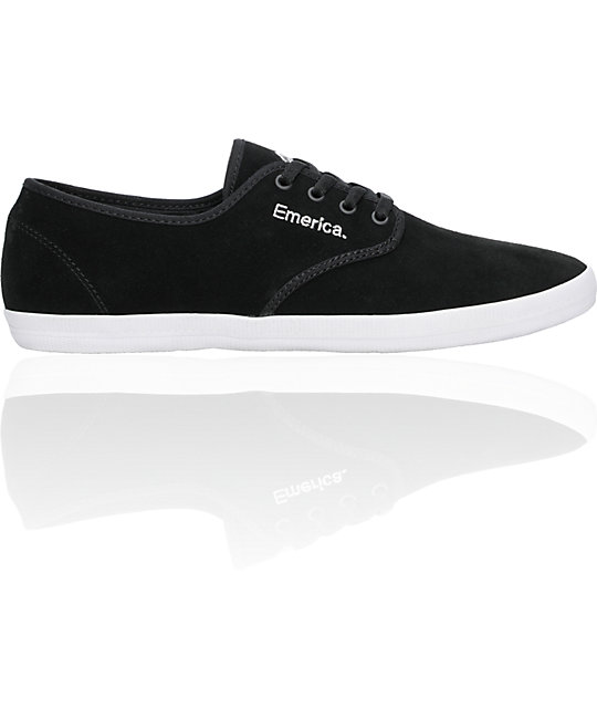 Emerica Wino Black, White & Silver Shoes