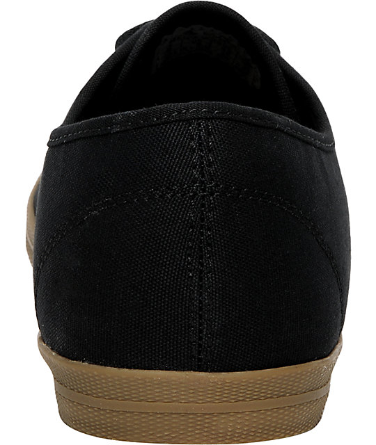 Emerica Wino Black & Gum Canvas Shoes