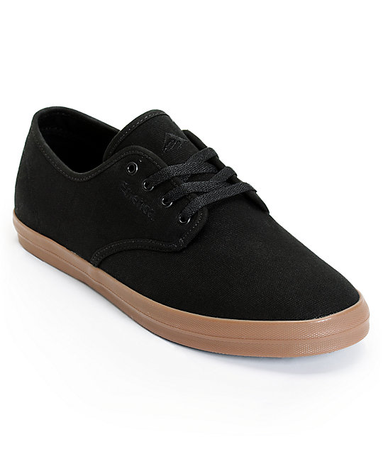 Emerica Wino Black & Gum Canvas Shoes