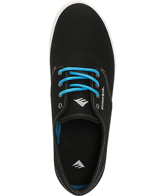 Emerica Wino Black Canvas & Aloha Tie Dye Shoes