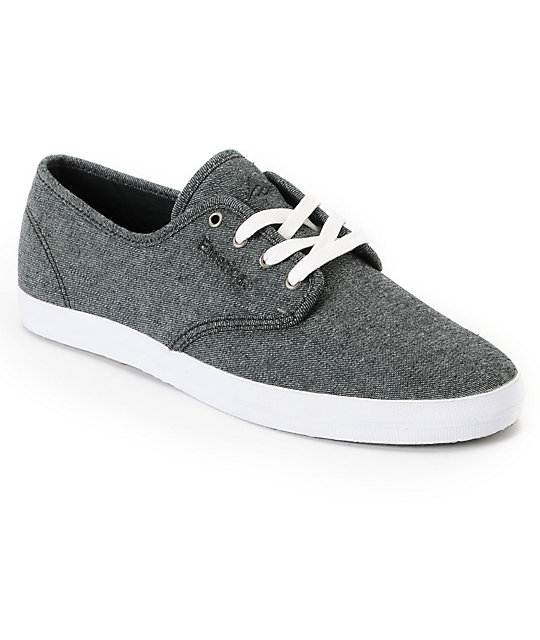 Emerica Wino Dark Grey Denim Shoes