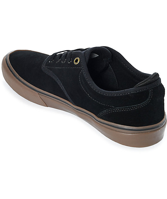 Emerica Wino G6 Black & Gum Suede Skate Shoes