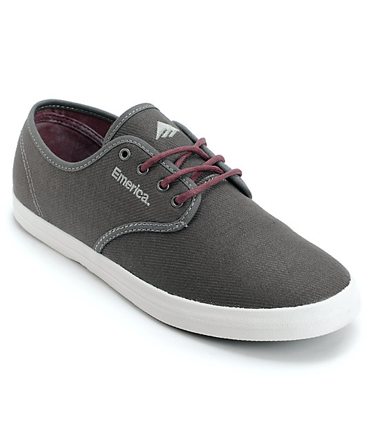 Emerica Wino Grey & Maroon Shoes