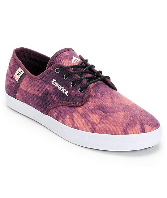 Emerica x Altamont Wino Purple Tie Dye Shoes