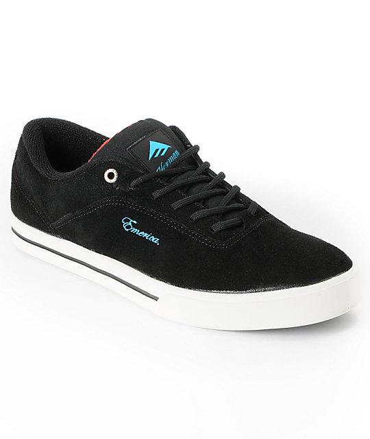 Emerica x Baker Herman G Code Black Suede Skate Shoe
