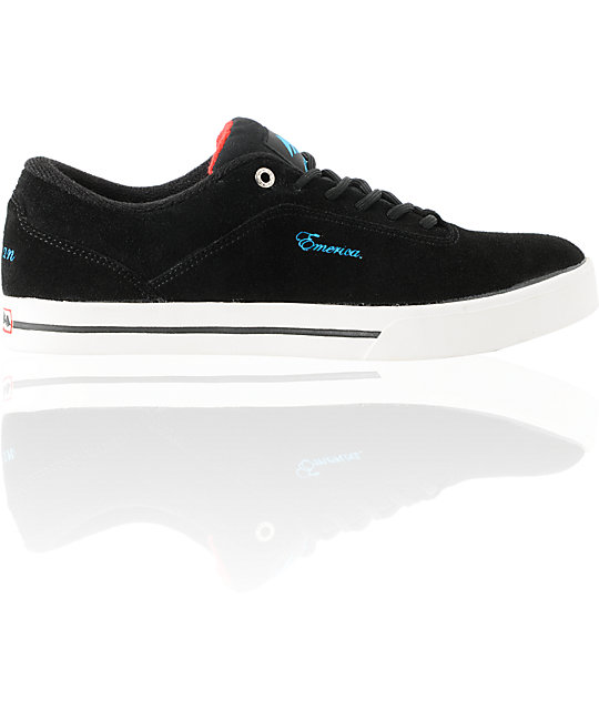 Emerica x Baker Herman G Code Black Suede Skate Shoes