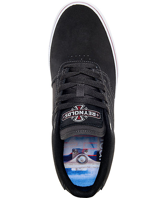 Emerica x Independent Reynolds Low Vulc Grey & White Skate Shoes