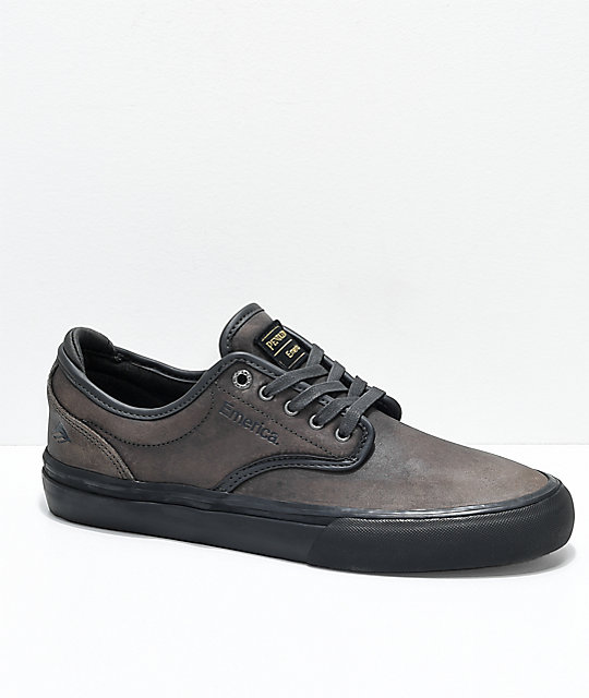 Emerica x Pendleton Wino G6 Dark Grey Leather Skate Shoes