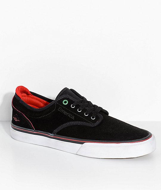 Emerica x Sriracha Wino G6 Black, Red & White Skate Shoes