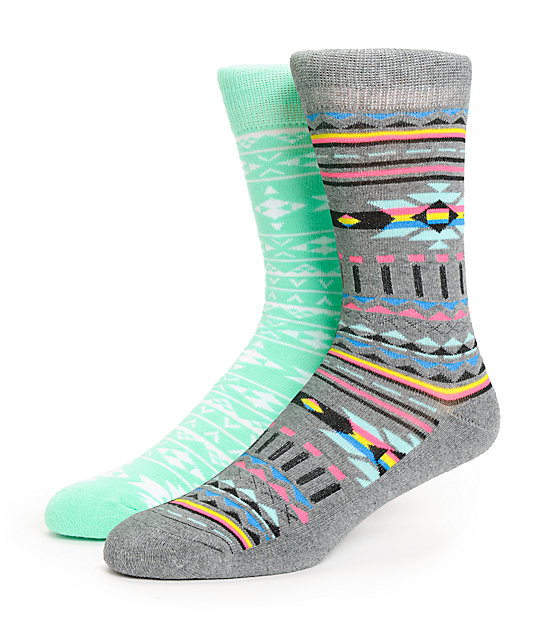 Empyre 2 Pack Serena Crew Socks