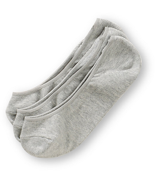 Empyre 3-Pack Grey No Show Socks