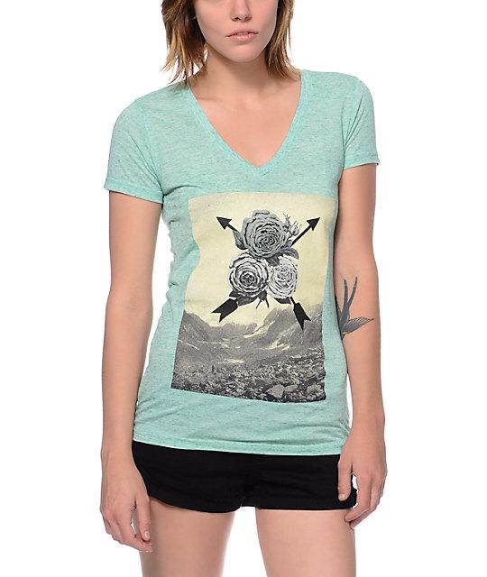 Empyre Air Rose Mint V-Neck T-Shirt