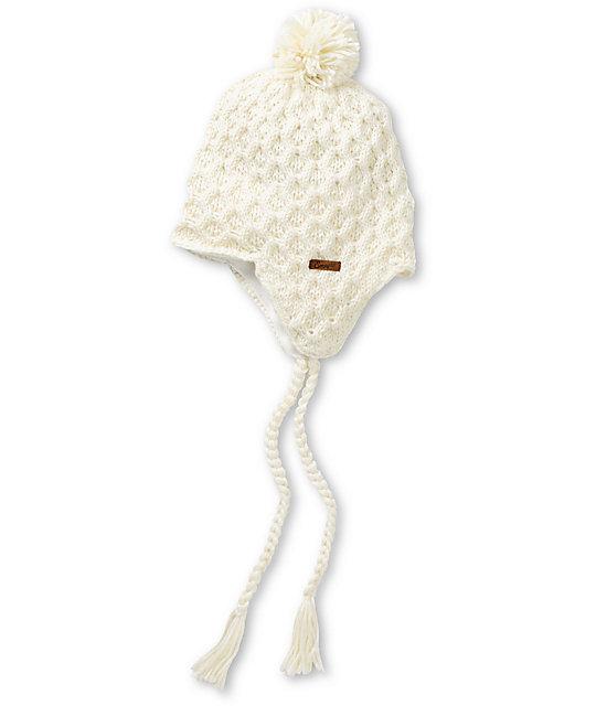 Empyre Aisha Fleece Earflap Vanilla Knit Beanie