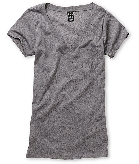 Empyre Albany Heather Charcoal V-Neck T-Shirt