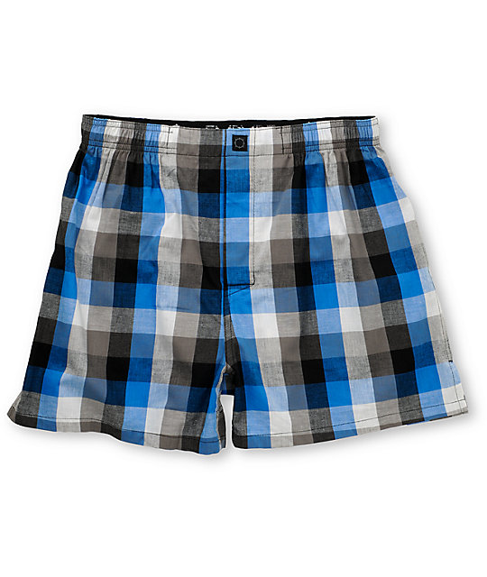 Empyre Ali Black & Blue Plaid Boxers
