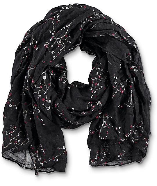 Empyre Angela bufanda en negro y floral