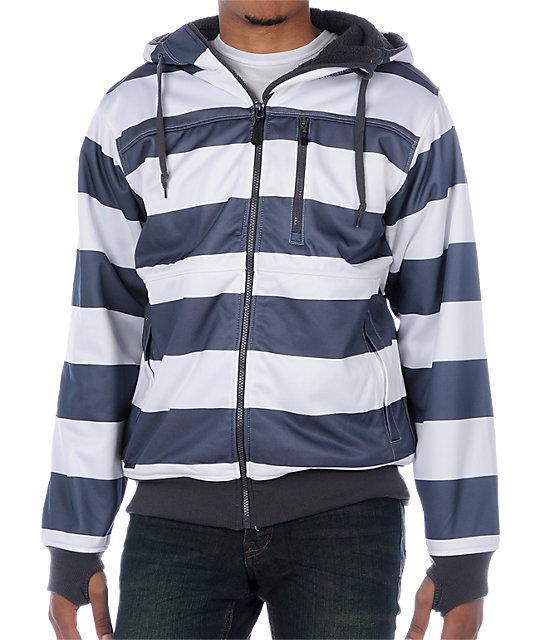 Empyre Apocalypse Grey Stripe Tech Fleece Jacket