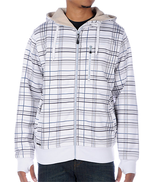 Empyre Apocalypse White Plaid Tech Fleece Jacket