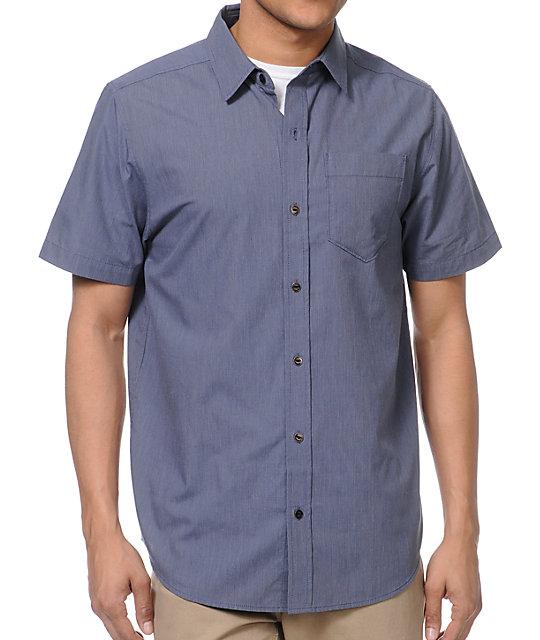 Empyre Apparat Dark Blue Pinstripe Button Up Shirt