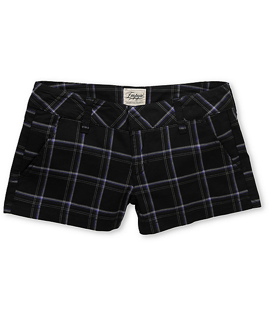Empyre Arcadia 2.5 Purple & Black Plaid Shorts