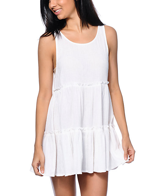 Empyre Aria White Babydoll Dress at Zumiez : PDP