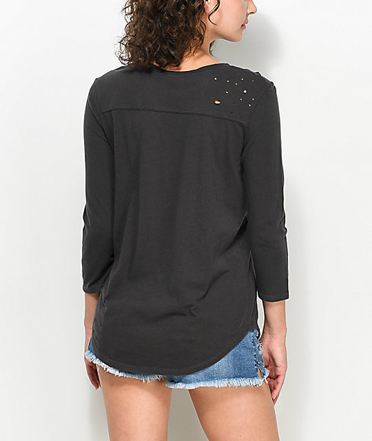 Empyre Arlene Black Destructed T-Shirt