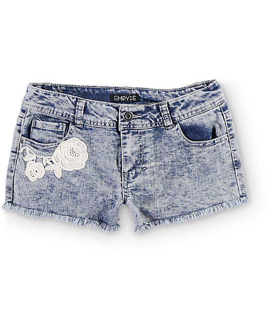 Empyre Ava Acid Wash High Waisted Shorts