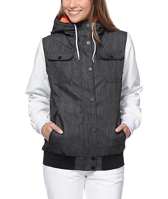 Empyre Bad Beat Charcoal Denim 10K Snowboard Jacket