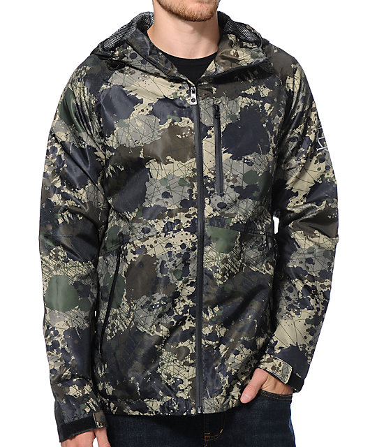 Empyre Base Camp Camo Technical Rain Jacket