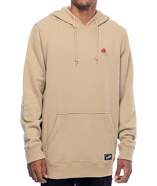 Empyre baseline embroidered khaki hoodie at zumiez pdp