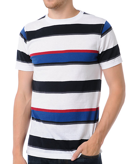 Empyre Battleship Striped White T-Shirt