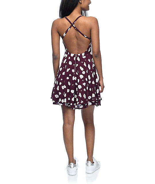 Empyre Bellamy Burgundy Floral Dress