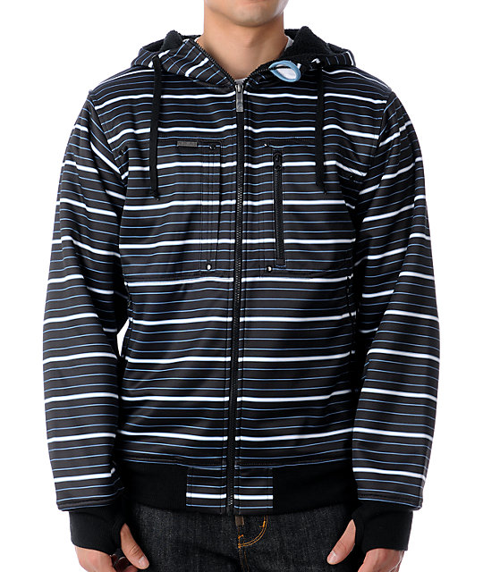 Empyre Bellfast Topo Black & Blue Tech Fleece Jacket
