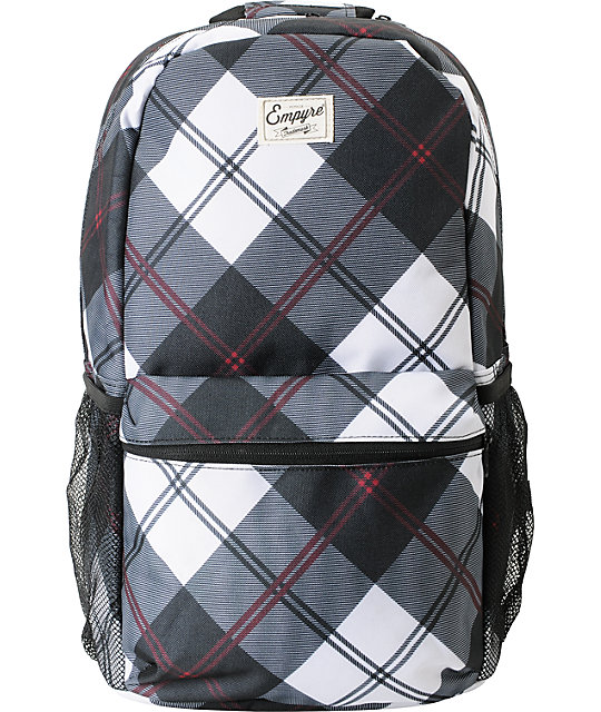 Empyre Black & Red Plaid Roll Call Laptop Backpack